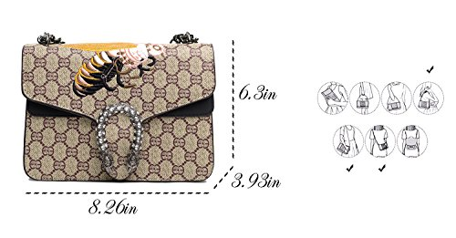 Single Bag Cross Handbag body Bags for Vintga Purse Shoulder Bag Messager Womens Black f8HYwqx