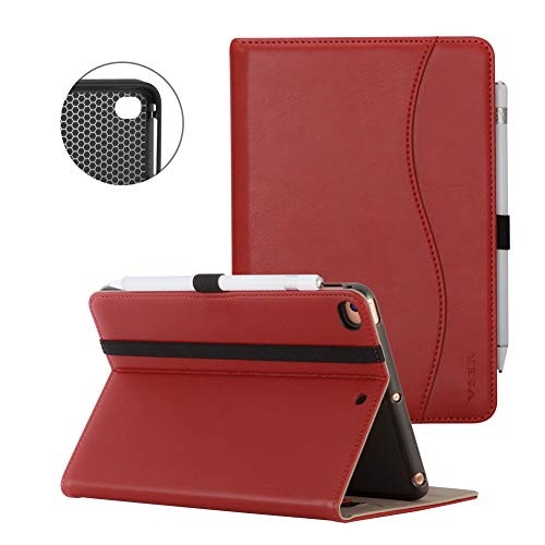 VSER Case for New IPad 9.7 Inch 2018/2017 / iPad Air 2 / iPad Air,Premium PU Leather Business Slim Folio Stand Cover Case for Apple iPad 5th / 6th Generation with Pencil Holder, Auto Wake/Sleep ()