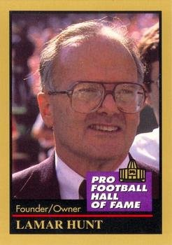Lamar Hunt football card (Kansas City Chiefs) 1991 Enor #70 Pro Football Hall of Fame Owner & AFL Founder (Enor 1991 Card)
