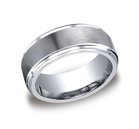 Beveled Edge Brush Finish (9MM Cobalt COMFORT FIT High Polish Polished / Satin Brush Brushed Finish Wedding Ring Band with Multi Beveled Beveling Edge for Men (Sizes 8 to 12) - Size 11)