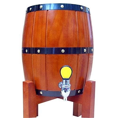 3L Barril De Cerveza De Vino Tinto Barril Licor Vejiga Navidad Bar Hotel Establece Madera Ganar Barril Decoración INOX Tant...