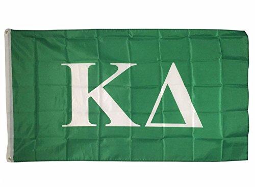 Kappa Delta Letter Sorority Flag Greek Letter Use as a Banner Large 3 x 5 Feet Sign Decor KD For Sale