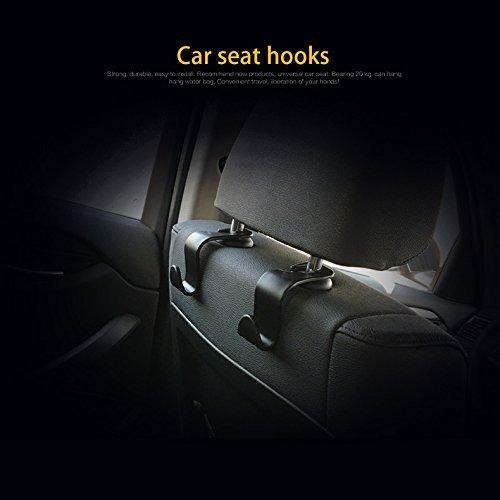 ipely car seat back hook auto seat headrest portable organizer holder hooks black set of 4. Black Bedroom Furniture Sets. Home Design Ideas