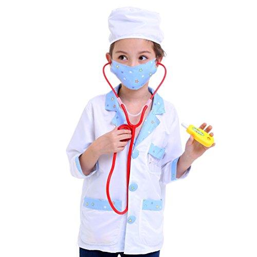 - SamTaiker Doctor Role Play Kit Costume Dress-Up Set For Kids (One Size, Standard Version)