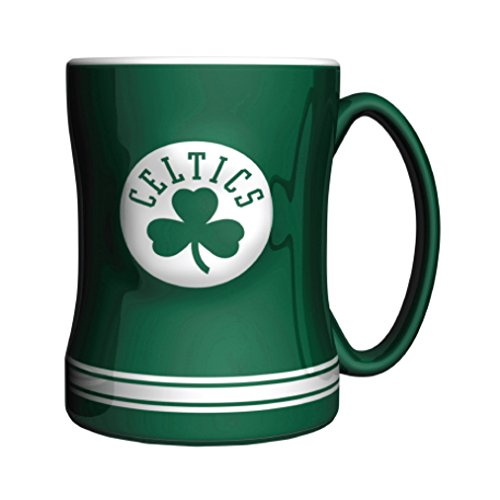 NBA Boston Celtics Sculpted Relief Mug, 14-Ounce