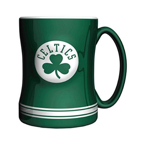 NBA Boston Celtics Sculpted Relief Mug, 14-Ounce