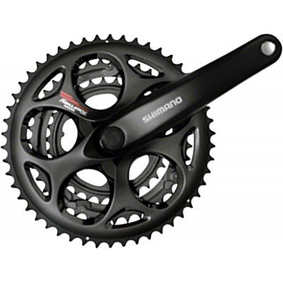 Shimano Tourney A073 170mm 30x39x50t 7/8-Speed Triple Crankset Black - Triple Crank