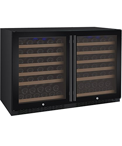 Allavino FlexCount 2X-VSWR56-1BWT 112 Bottle Dual Zone Wine Coolers - Side by Side - Black Doors by Allavino
