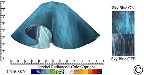 Jezebel Radiance LR16-SKY-158 Lily Glass Pendant/Ceiling Fan Light Replacement Glass Shade-1 5/8