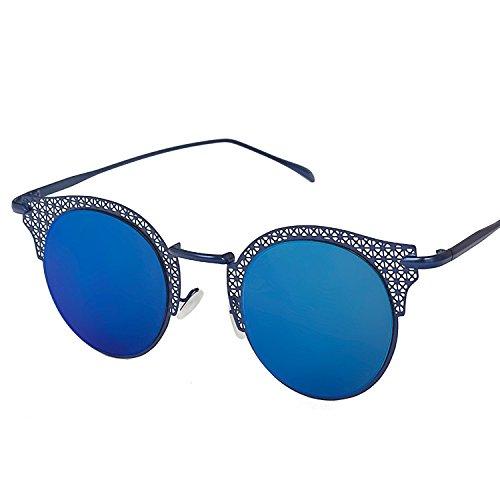 Gafas Disparos sol box mujer Blue C1 de Gafas MAIDIS Moda de talladas callejeros blue a mano sol dzPBx6