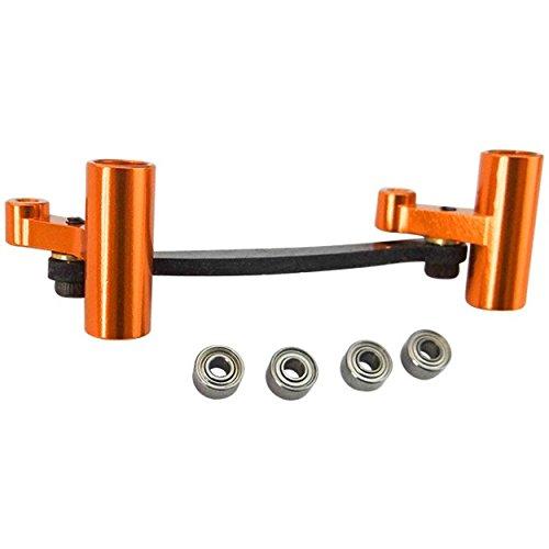 Aluminum Steering System (Hot Racing DMD48G03 Aluminum and Carbon Fiber Steering System (brushed) - Bx Mt)
