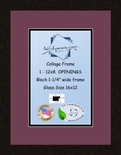 4x5 Openings and Satin Black Frame Art to Frames Double-Multimat-320-825//89-FRBW26079 Collage Photo Frame Double Mat with 1-5x7 and 2-2.5x3.5