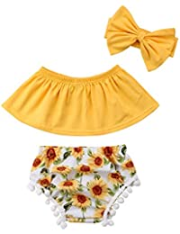 3PCS Newborn Infant Baby Girls Outfit Clothes Romper...