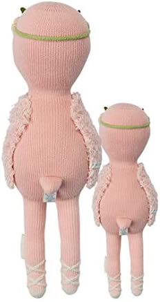 CUDDLE KIND Penelope The Flamingo Regular 20 Hand-Knit Doll 1 Doll 10 Meals, Fair Trade, Heirloom Quality, Handcrafted in Peru, 100 Cotton Yarn