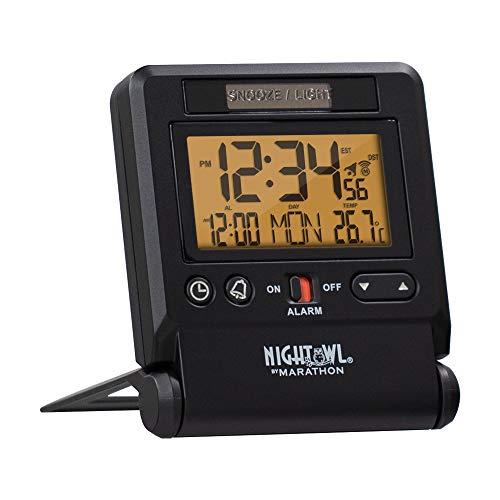 Marathon Atomic Travel Alarm Clock with...