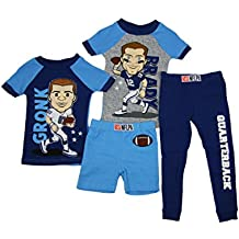 Komar Kids NFLPA Players 4 Piece Pajama Set New England Tom Brady & Gronk 2T
