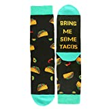 Zmart If You Can Read This Novelty Funny Saying Combed Cotton Taco Crew Socks for Men