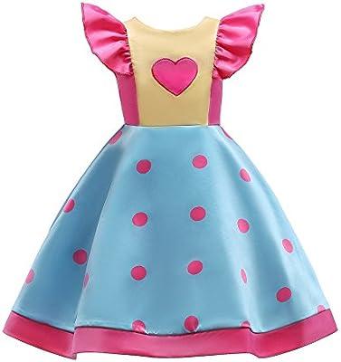 311fdbb80c9df feiXIANG Vestido de niña con Estampado de Lunares Manga del Vuelo Vestido  de Princesa Vestido de Princesa Vestido de Princesa Boda de la Moda o  Vestido de ...