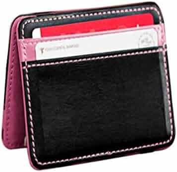 Wobuoke Mini Neutral Magic Bifold Leather Wallet Card Holder Wallet Purse  Money Clip c3fc877b3f2b0