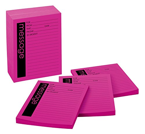 Post-it Super Sticky Printed Important Message Pads, 4 in x 5 in, Fireball Fuchsia, Lined, 12 Pads/Pack, 50 Sheets/Pad (7662-12-SS)