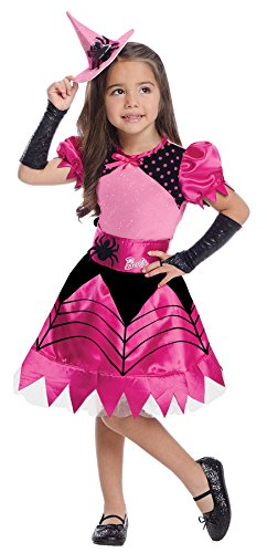 UHC Girl's Barbie Pretty Witch Toddler Pink Fancy Dress Child Halloween Costume, 2T-4T