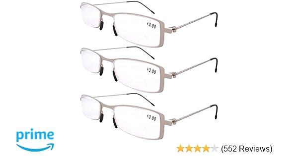 a86d32ce784f Amazon.com  Eyekepper 3-Pack Unique Lightweight Stainless Steel ...
