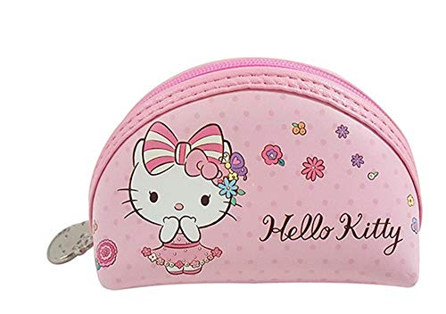 (Hello Kitty Coin Purse Pouch Pink Semi-Circle (3.5