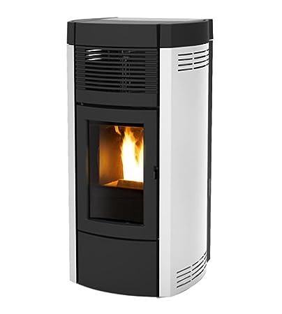 estufa de pellets MCZ MUSA hydromatic de 16 KW, Brasero autolimpiable, Color blanco: Amazon.es: Hogar