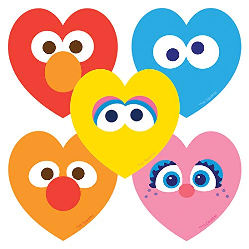 Sesame Street: Hearts Stickers - Prizes 100 per -