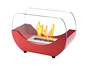 Ignis Portable Tabletop Ventless Bio Ethanol Fireplace - Liberty (Red)