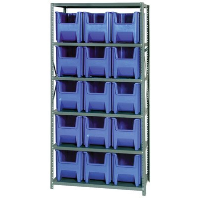 Giant Stack Container Shelf Storage Systems with Bins Dimensions: 12 1/2