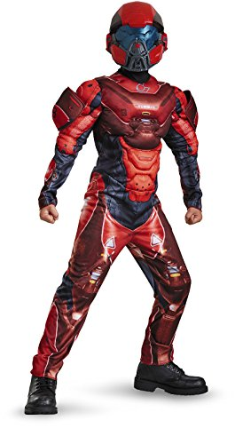 Halo 5 Halloween Costumes (Red Spartan Classic Muscle Halo Microsoft Costume, Small/4-6)