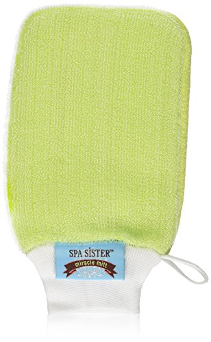 Spa Sisters Miracle Mitt, Green (Mitts Spa)