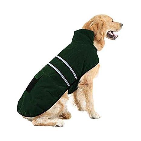 Liboom Abrigo para Mascotas Perros Impermeables Chubasqueros Invierno Otoño Chaleco Caliente Abrigo Chaqueta Reflectante Resistente al Viento para Mascotas ...