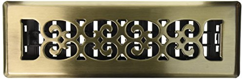 Decor Grates SPH210-A 2-Inch by 10-Inch Scroll Floor Register, Antique - 10 Antique Brass Floor Register