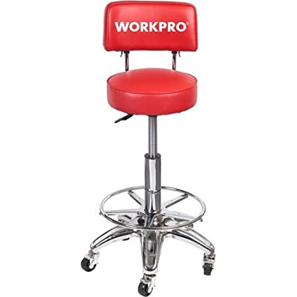 Peachy Work Pro Heavy Duty Adjustable Hydraulic Stool Mechanic Garage Shop Back Support Comfort Andrewgaddart Wooden Chair Designs For Living Room Andrewgaddartcom