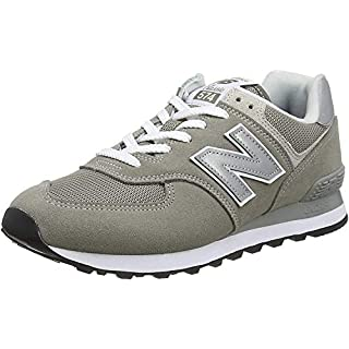New Balance Men's 574 V2 Evergreen Sneaker, Grey/Grey, 8.5 M US