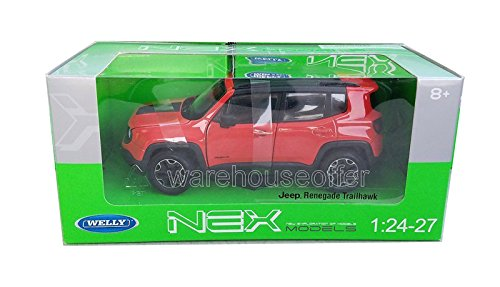 Welly DIECAST Model CAR 1:24 W/B - Jeep Renegade TRAILHAWK (Orange) 24071W-OR Toys