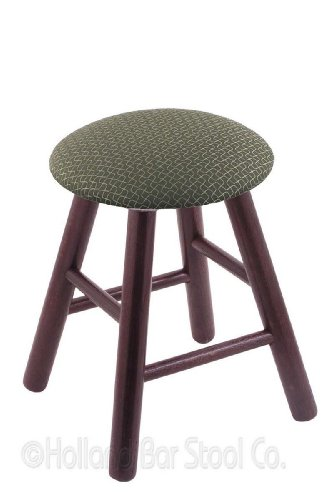 Oak Vanity Stool in Dark Cherry Finish with Axis Grove ()