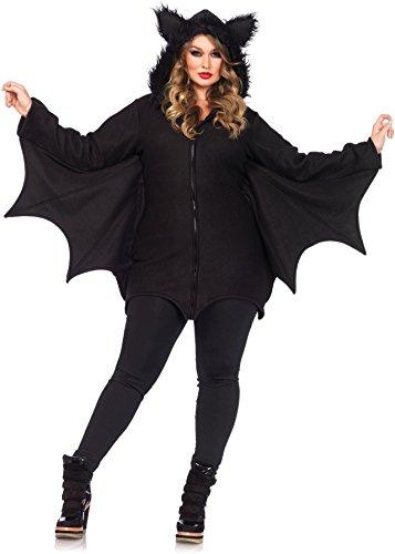 Leg Avenue Women's Plus-Size Cozy Bat Costume, Black, (Leg Avenue Plus Size Costumes)