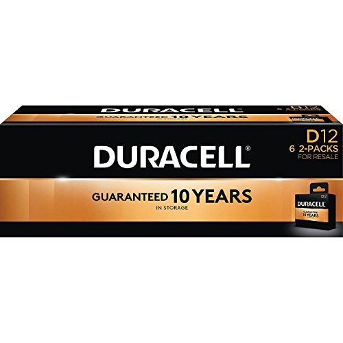 Duracell Coppertop Alkaline D Batteries (12 Pk)