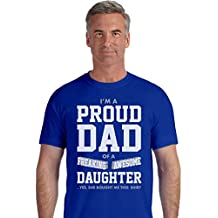 TeeStars - Proud Dad Of A Freaking Awesome Daughter Funny Gift for Dads T-Shirt
