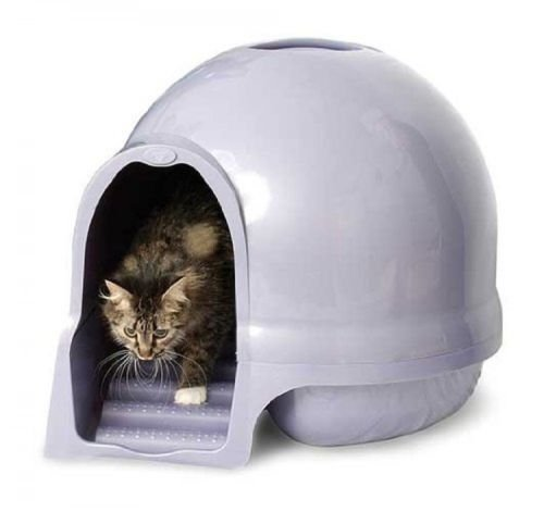 Brushed Nickel Covered Litter Dome Cat (Booda Dome Cat Box)
