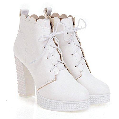 COOLCEPT Damen Sweet High Heel Stiefel White