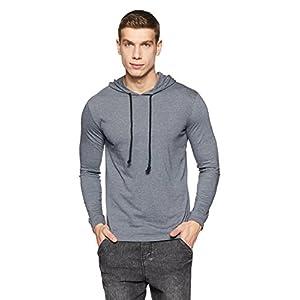 Amazon Brand – Symbol Men's Hooded Full Sleeve Cotton T-Shirt