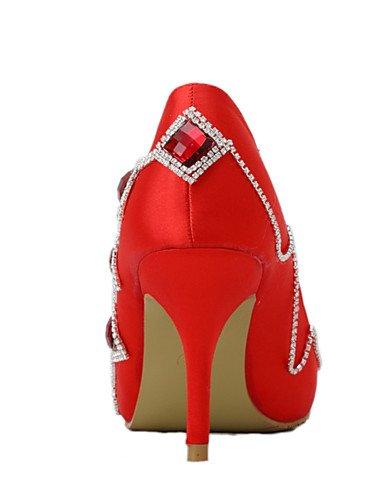 3 Uk4 rojo Noche Eu36 Boda De Cn36 Fiesta Cn39 Y tacones Puntiagudos boda Uk6 Zq us8 mujer Vestido us6 Eu39 4in 3in tacones Zapatos 3 3 4in 4ZPqwnAp