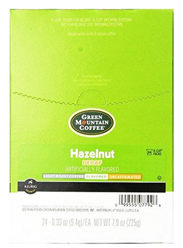 Green Mountain Coffee Hazelnut Decaf, Light Roasted, K-Cup Portion Pack for Keurig K-Cup Brewers (Pack of 48)  ()