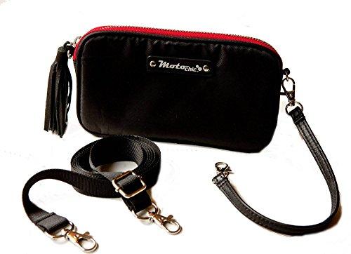 Adjustable Straps Bag with Purse Valerie Clutch Black Cross Handbag Waist Body MotoChic P0vqn