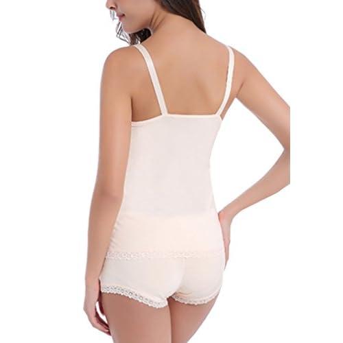 4f17792dcfd HIKONG 2 Pack Sujetador Lactancia Bra Maternidad Ropa Interior Premamà  Camiseta Tirantes Chaleco Camisa sin Mangas