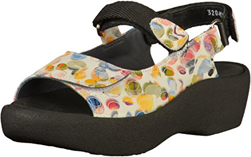 Wolky White Womens Sandals Leather Multi 3204 Jewel rrqzpX
